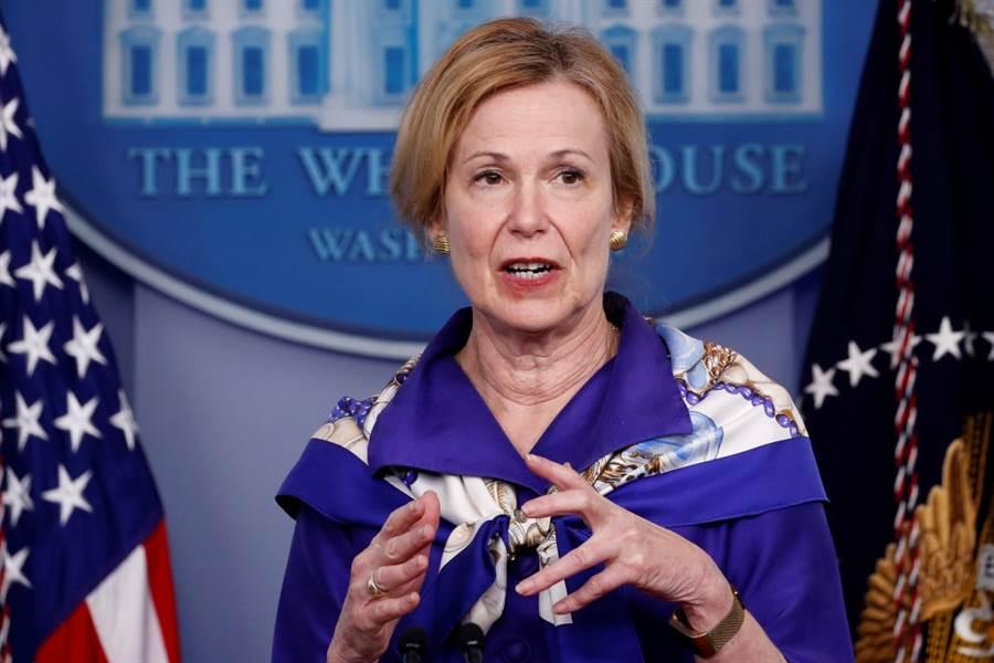 川普自從延攬神經放射科專家阿特拉斯成為防疫顧問後,白宮疫情工作小組最高官員柏克斯就日漸覺得自己的角色被削弱,她為此神傷,擔心自己的工作不保。(資料照/美聯社)