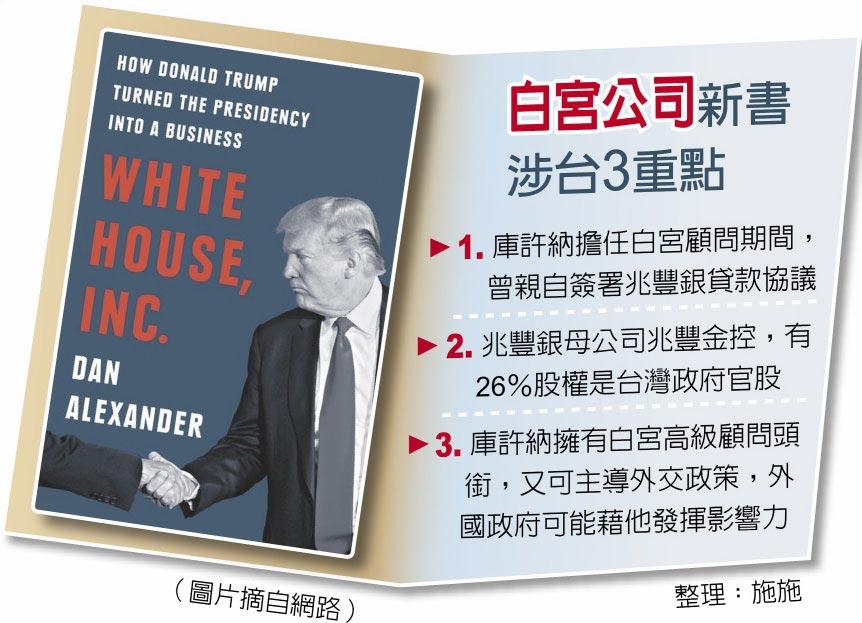 白宮公司新書涉台3重點