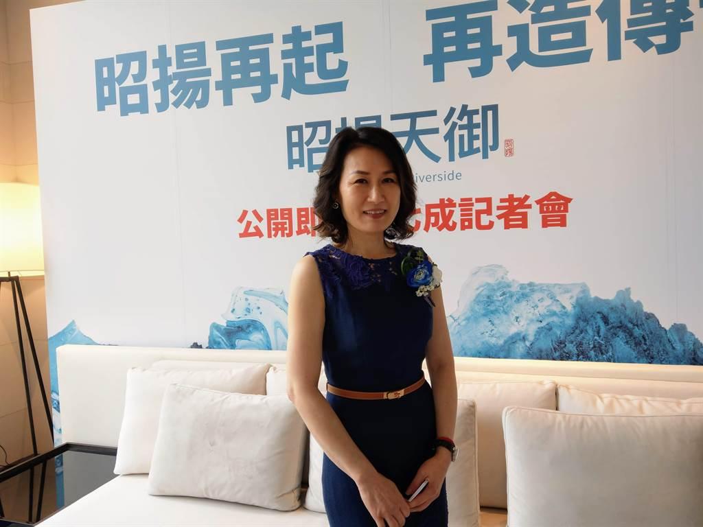 昭揚建築總監呂雅蕙表示,昭揚建築團隊發揮品牌效應,因此推案出現秒殺盛況。(葉思含攝)