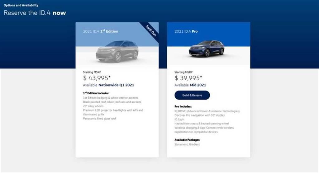 福斯電動 SUV 銷售告捷!ID.4 1st Edition 首發二千台,不到一天就賣完