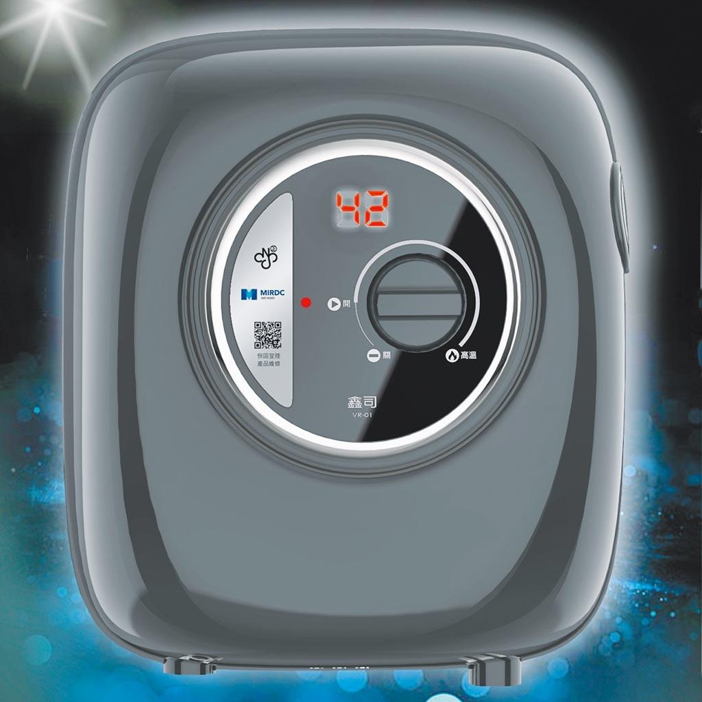 鑫司「無段位電子流量VR即熱電熱水器」設定多少流量就啟動加熱多少,快速提供最適水溫。圖/鑫司提供