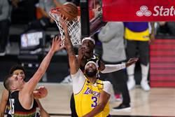 NBA》一眉哥帶傷摘34分 湖人強壓金塊聽牌