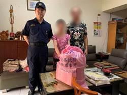 中市警關懷弱勢家庭 分送物資歡度中秋