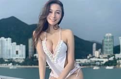 「新一代性女」曬火辣性感照 渾圓D罩杯炸出深V泳衣