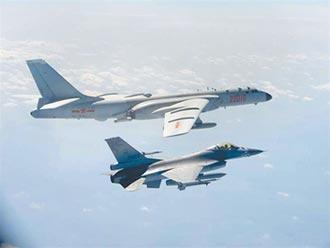 台北天空 F16還是殲16