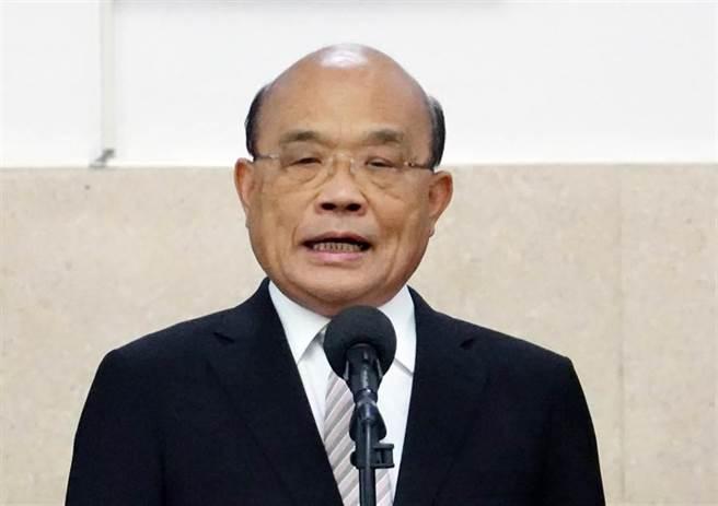 行政院長蘇貞昌25日前往立法院備詢並受訪。(姚志平攝)