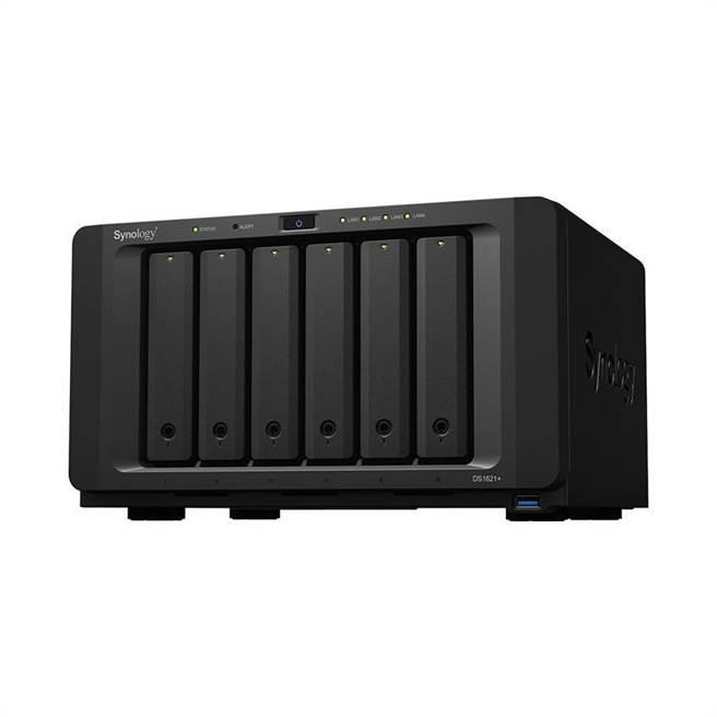 Synology 全新 6 硬碟槽机种 DS1621+,搭载四核心 AMD Ryzen Zen 架构处理器,可提供前代机种所使用的处理器 2 倍以上效能。图/厂商提供