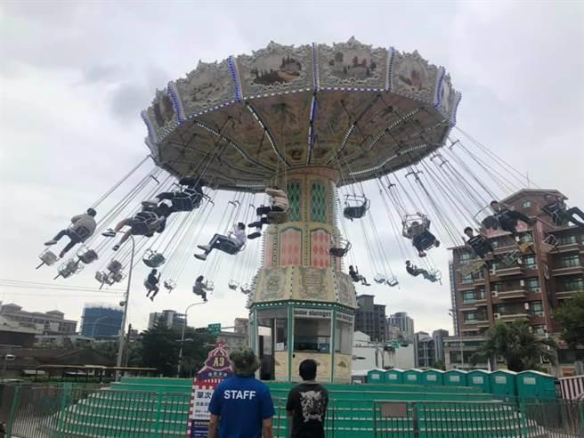 JETS嘉年華青埔開幕桃園市民卡門票半價。(呂筱蟬攝)