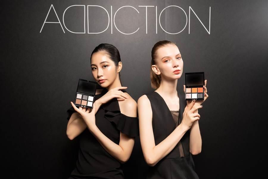 ADDICTION全新99色眼影發表會模特兒展演。(ADDICTION提供)