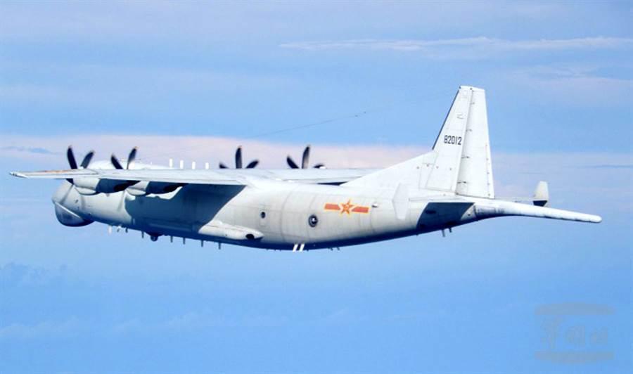 共軍連日派遣軍機進入台灣鄰近空域,圖為進入台灣空域解放軍運8反潛機。(圖/國防部提供)