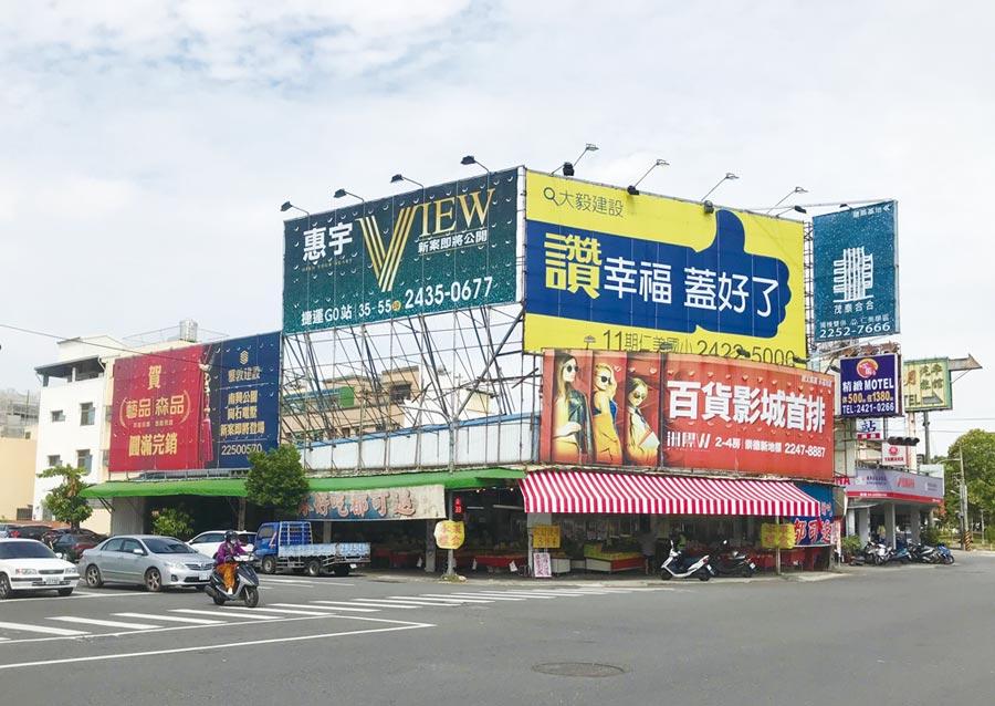 台中市北屯區多年來磁吸著建商搶進購地推案。圖/曾麗芳