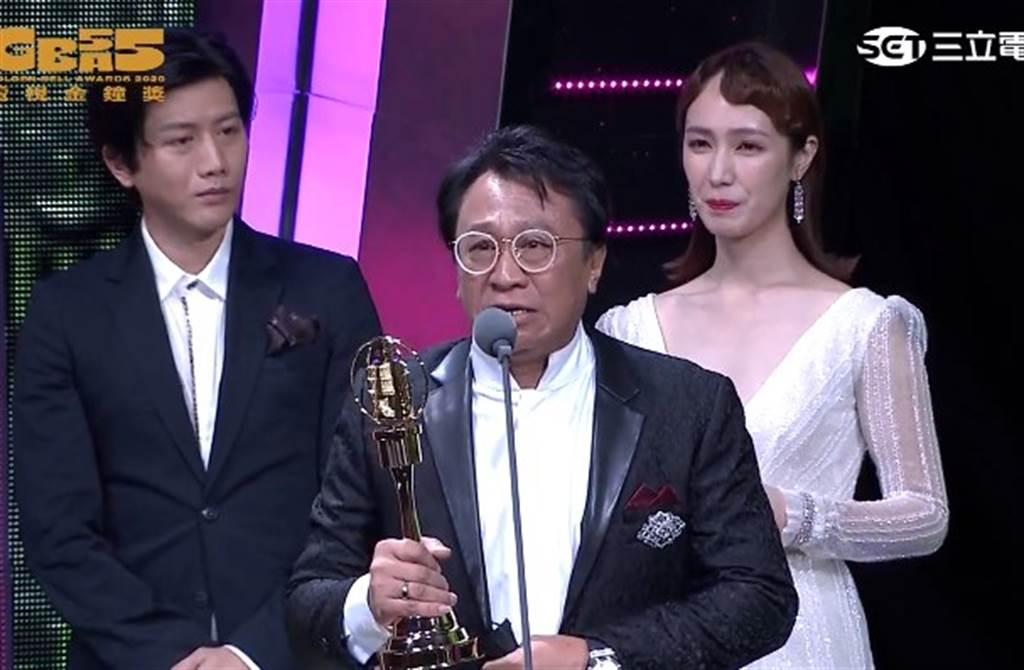 游安順在金鐘55開頭彩,奪得迷你劇集男配角獎。(翻攝金鐘獎YouTube)