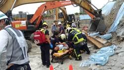 台中三井商場工地傳意外74歲工人受傷送醫