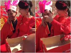 婚禮上公主抱手狂揉胸 媳餵公公吃麵笑問「軟還硬」?