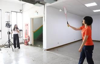 台科大師生開發互動羽球系統  成訓練球員神助手