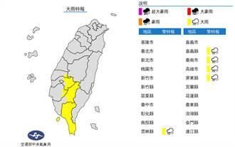 雷雨彈開炸 南台灣5縣市大雨特報