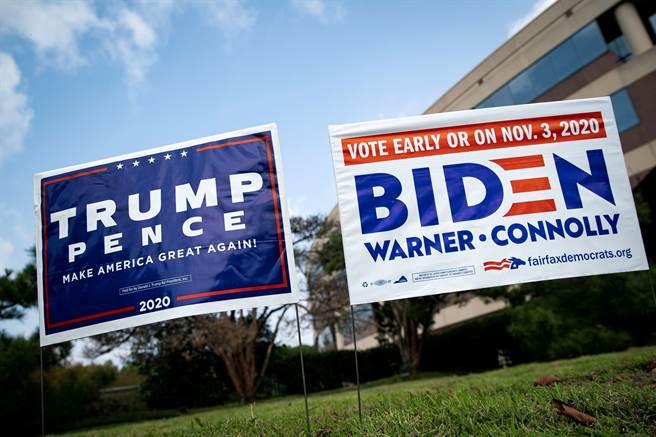川普與拜登誰能贏得美國總統大選,專家認為將左右不同類股後勢。(法新社資料照片)