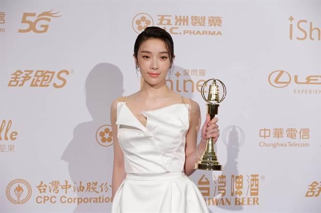 蔡淑臻獲得戲劇節目女配角獎。(圖/廖映翔攝)