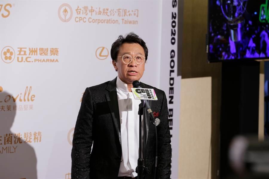 游安順以新創電影短片《大吉》拿下「迷你劇影帝」。(圖/廖映翔攝)