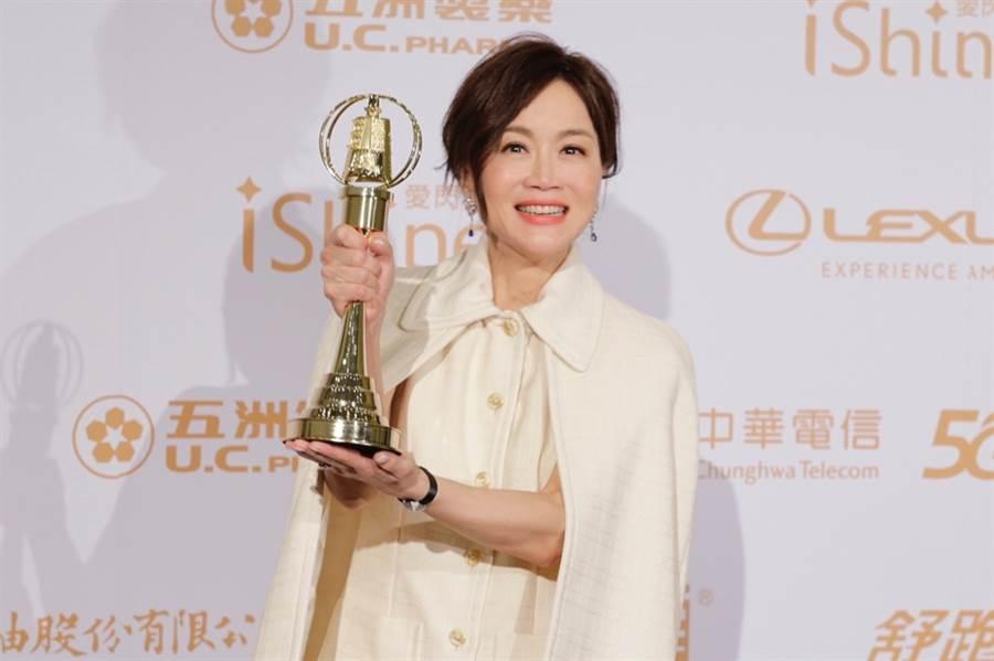 高怡平睽違18年,勇奪生活節目主持人獎。(圖/廖映翔攝)
