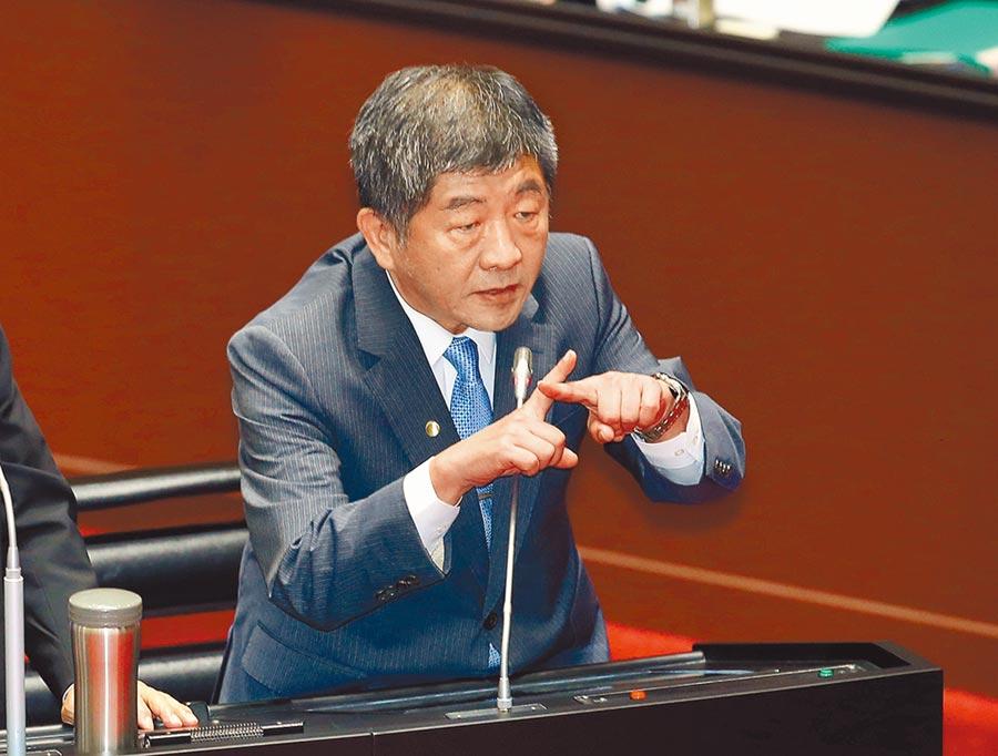 立委詢問如果中國大陸疫苗先通過認可,台灣會不會打大陸貨?衛福部長陳時中表示,不選擇中國疫苗是確定的。(姚志平攝)
