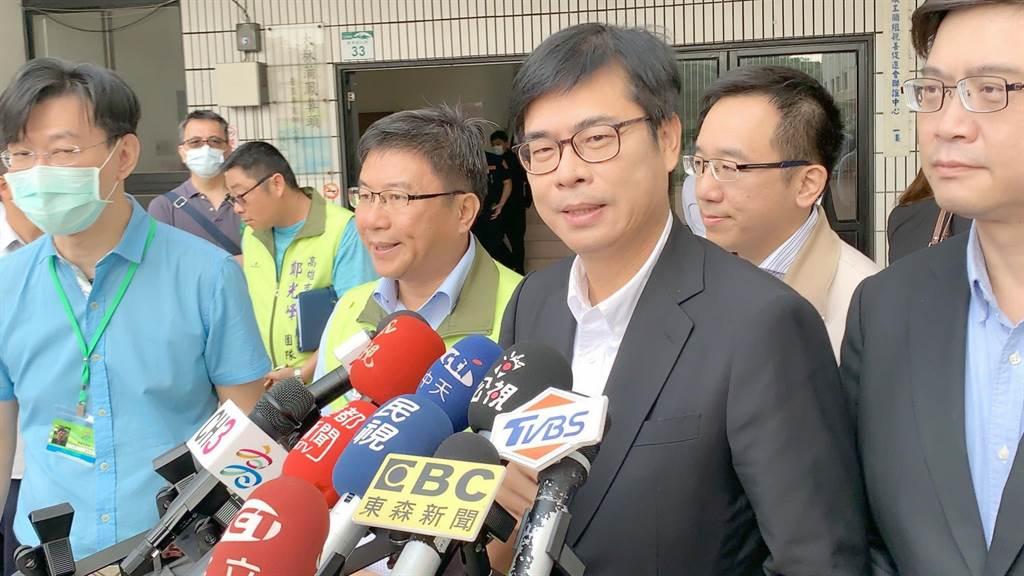 高雄市長陳其邁今公開呼籲,「市長聯盟」盡速修正錯誤。(柯宗緯攝)