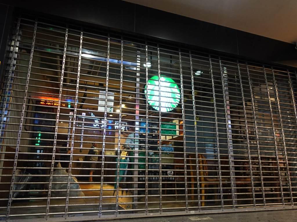 晚上六點店家正式拉下鐵門。(照片/游定剛 攝影)