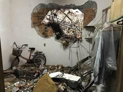基隆山壁落石砸入民宅 驚現大洞無人傷亡