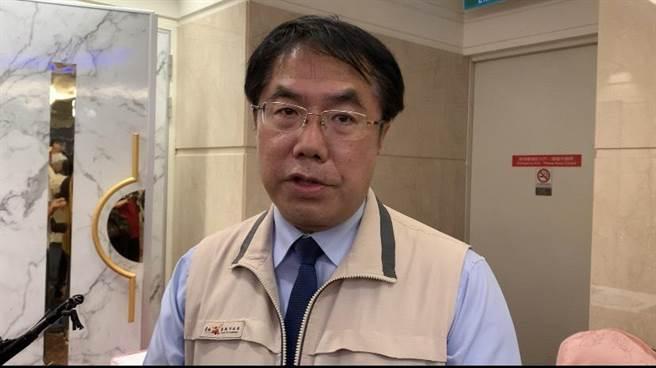 台南市長黃偉哲。(李宜杰攝)