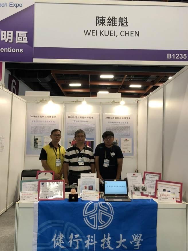 健行科大教授陳維魁指導的另一組專利作品則為「智慧型空氣品質偵測系統」(健行科大提供/黃婉婷桃園傳真)