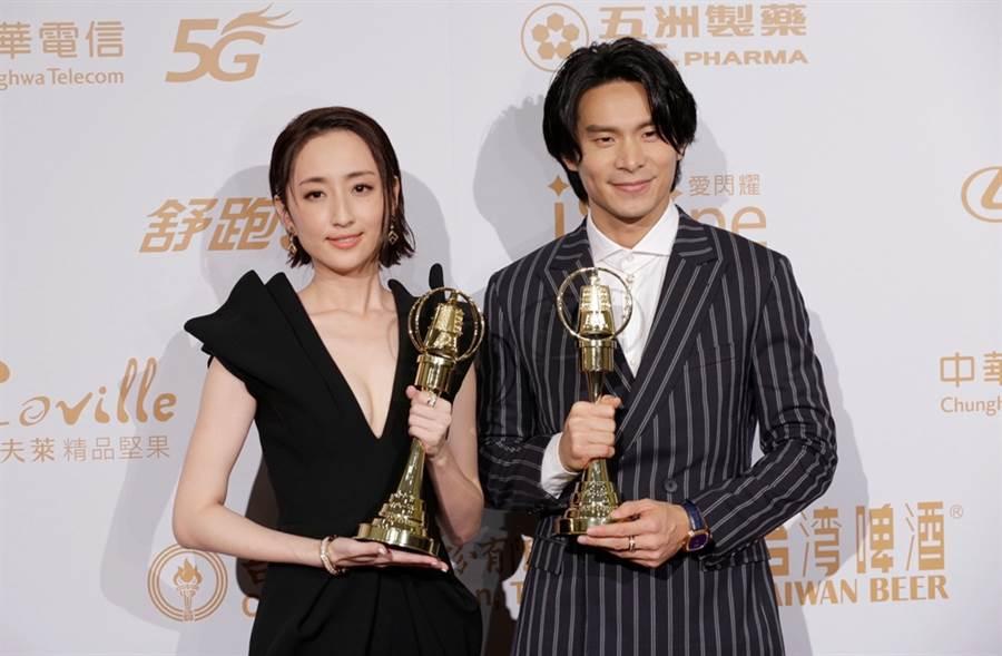 姚淳耀獲得視帝,柯佳嬿以人氣戲劇《想見你》二度封后。(圖/廖映翔攝)