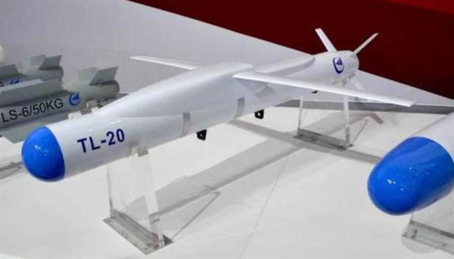 小型空对地导弹天龙-20(TL-20)射程可达85公里。(网路)
