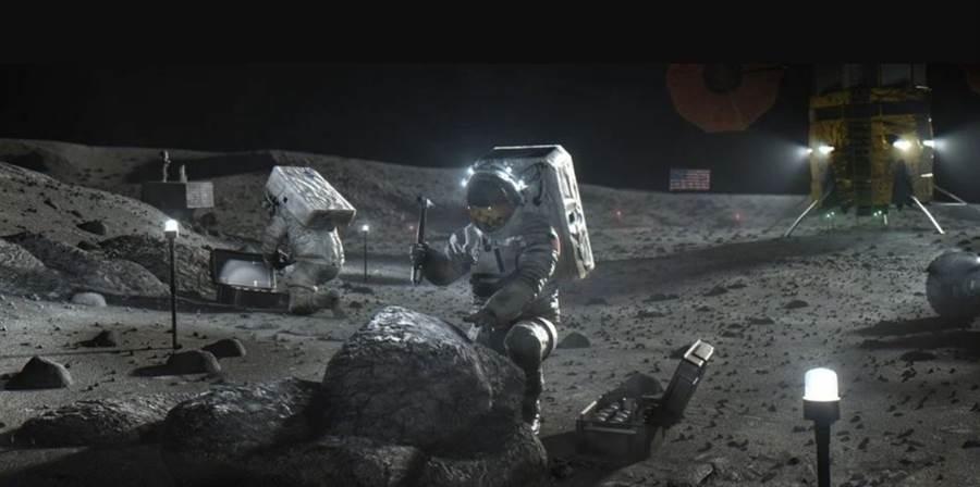 美国希望在10年内再登月球,辐射将是必须面对的问题。(图/NASA)