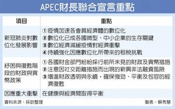 APEC財長會議:數位化成生存關鍵