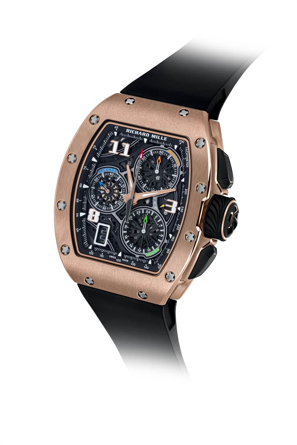 RM 72-01紅金錶殼款式/RICHARD MILLE提供