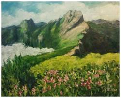 最美的玉山彩繪都在這 樂樂義廚展出油畫大師許宜家作品