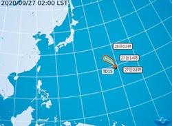 輕颱鯨魚向北拐 中秋連假溼涼