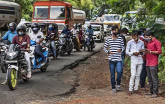 印度染疫總數突破600萬 料10月初成全球最多
