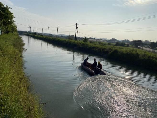 康姓、黃姓2名70多歲老翁清晨相約嘉南大圳晨泳,卻不幸溺斃。(讀者提供/莊曜聰台南傳真)