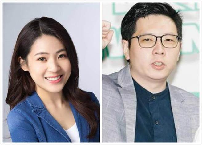 台北市議員徐巧芯(左)、桃園市議員王浩宇(右)。