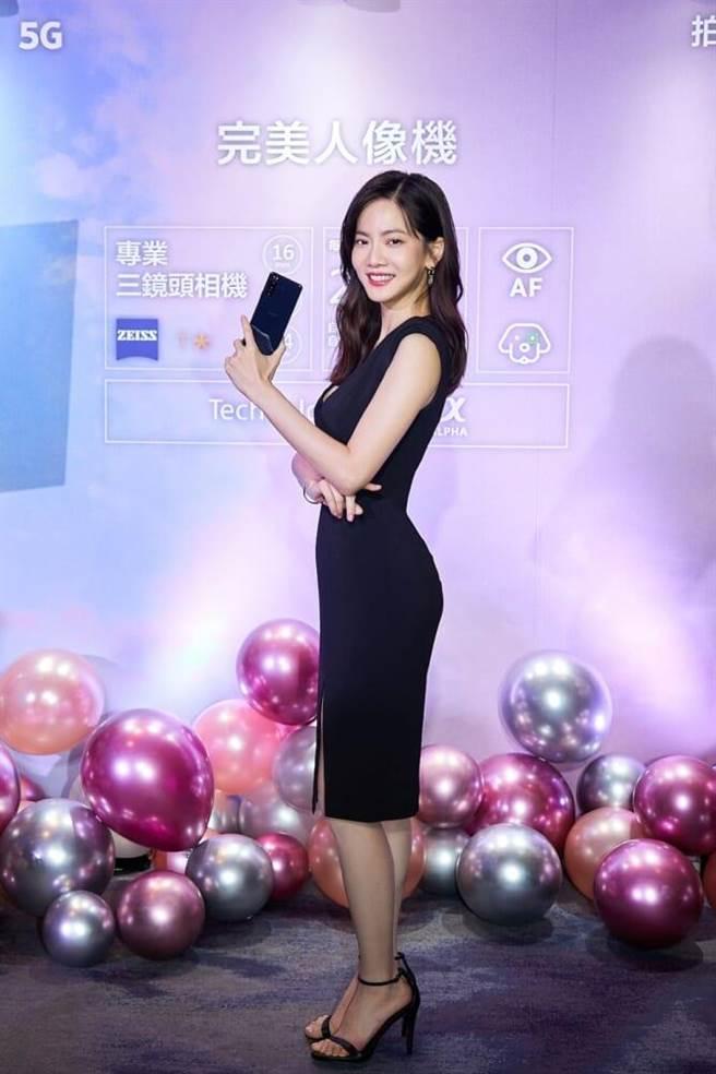 曾之喬出席手機新品記者會。(Sony Mobile提供)