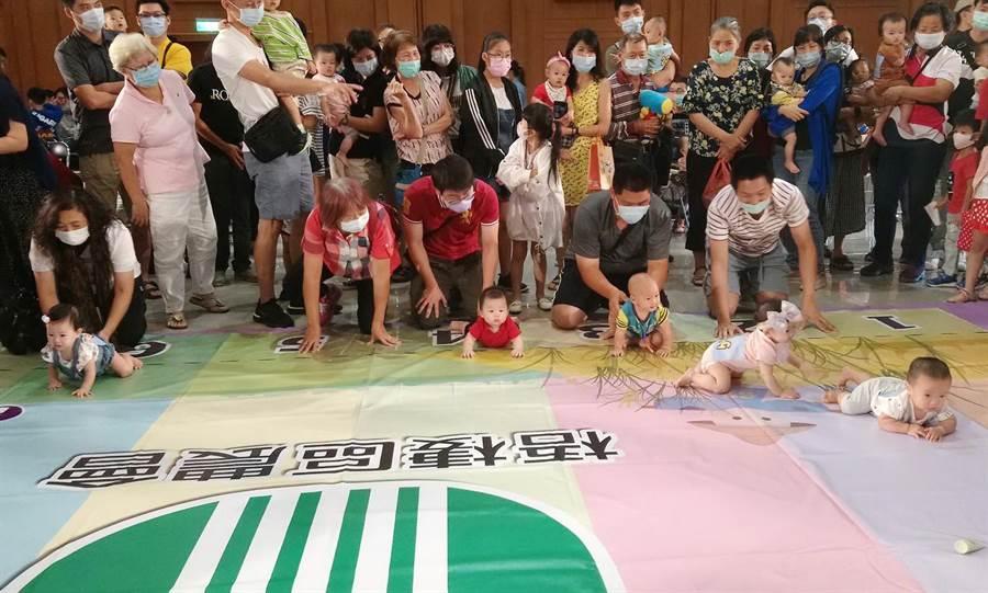 梧棲區農會農寶寶運動會27日熱鬧登場,吸引近千位親子共襄盛舉。(陳淑娥攝)