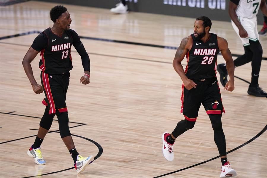熱火前鋒伊戈達拉(右)已經連6年都闖進NBA總冠軍賽了。(美聯社)