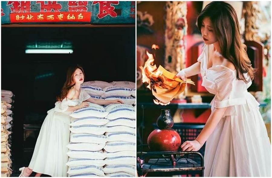 鸡排妹晒出一系列火辣写真,让网友全都暴动。(图/ili.cheng IG)