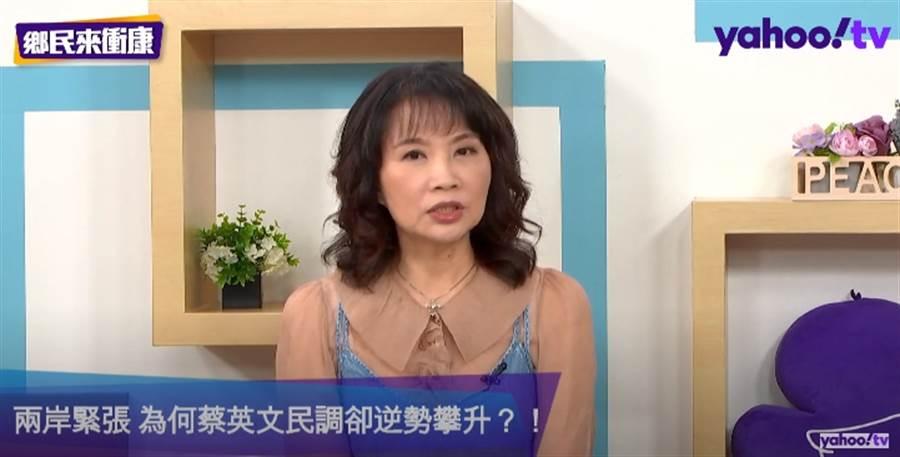 媒體人陳鳳馨。(圖/翻攝自Yahoo TV政論節目「鄉民來衝康」)
