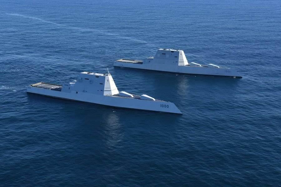 美軍最新式的隱形驅逐艦,外型獨特,但至今尚未正式裝備完成,還有一大堆問題有待解決。(圖/美國海軍)