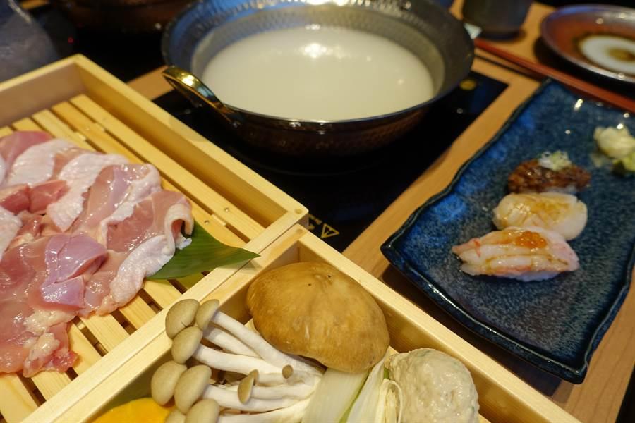「水炊鍋」源於日本福岡博多,湯頭富含膠質、呈乳白色澤。(黃采薇攝)