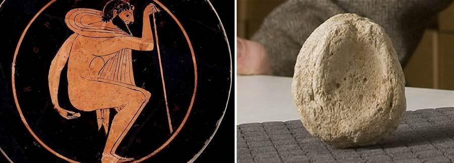 古希臘人用這種圓型的粗陶片來擦屁股,並且有陶罐畫佐證。(圖/wiki)