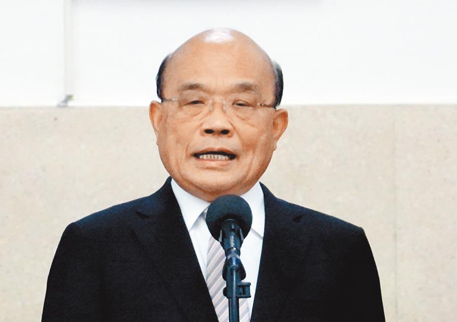 行政院長蘇貞昌。(本報系資料照片)