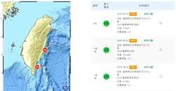 台東外海連7震 震央規模逾5!20年首見